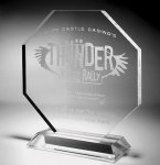 Clear Octagonal Acrylic Award Employee Awards