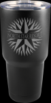 Vacuum Insulated Black Stainless Steel Mug with Clear Lid Gift Awards