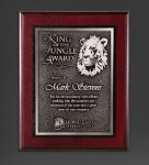 Cherry Finished Panel and Silver Tone Plate Sales Awards
